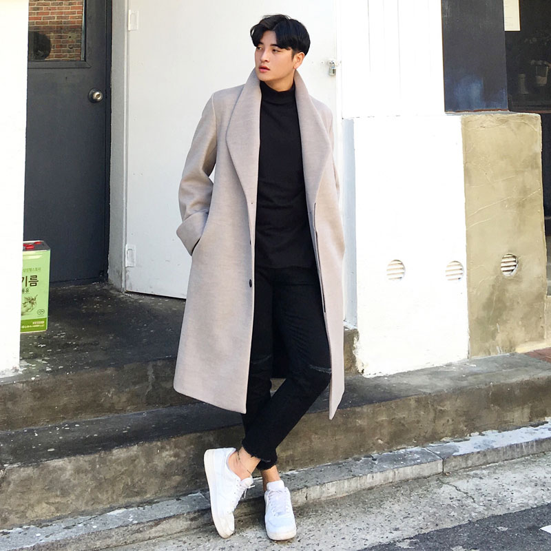 Ivory Ander Wide Lapel Over Coat_O117