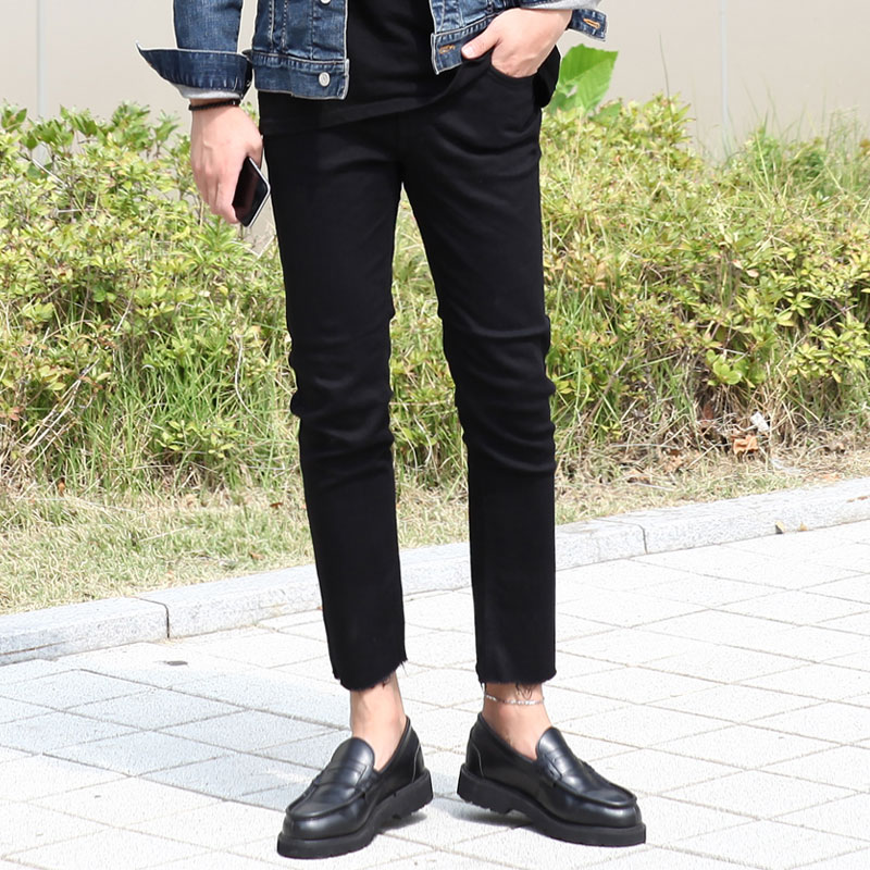 GT 114 Cutting black Jeans_B138