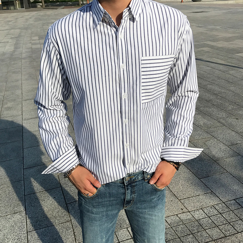 FO Oxford Stripe Shirts_T865 ( 3 Colors )