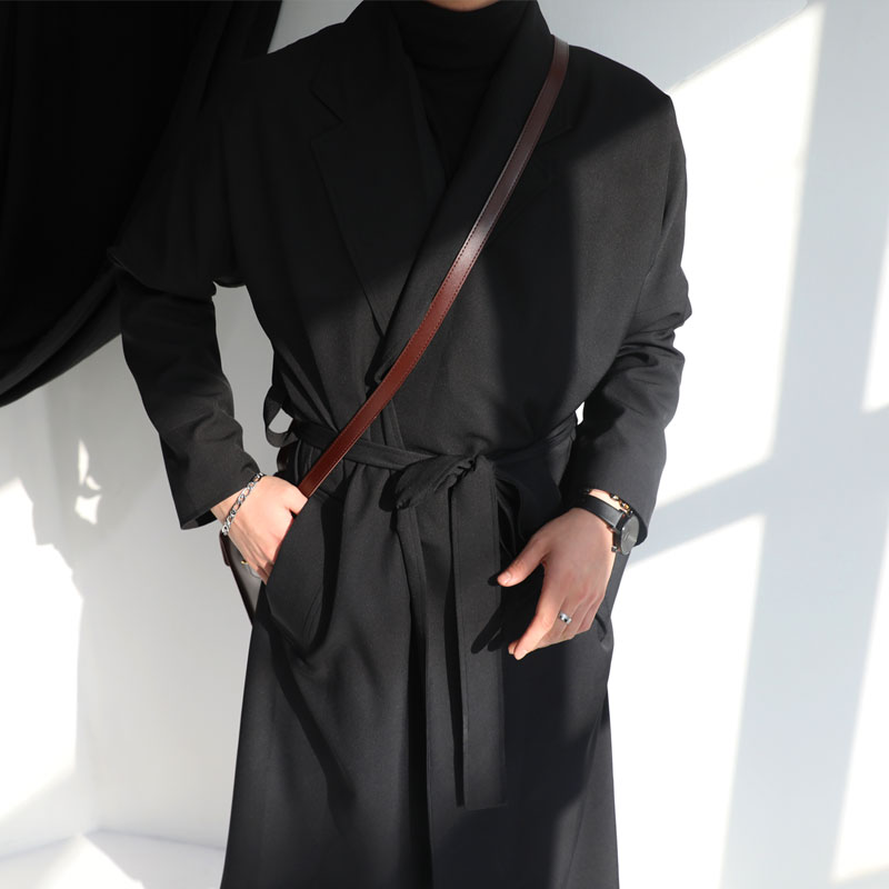 당일발송 / BL Gown Long Coat_O593 (BLACK)