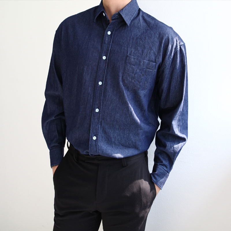 Basic Radio Denim Shirt_T319 ( 2 colors )