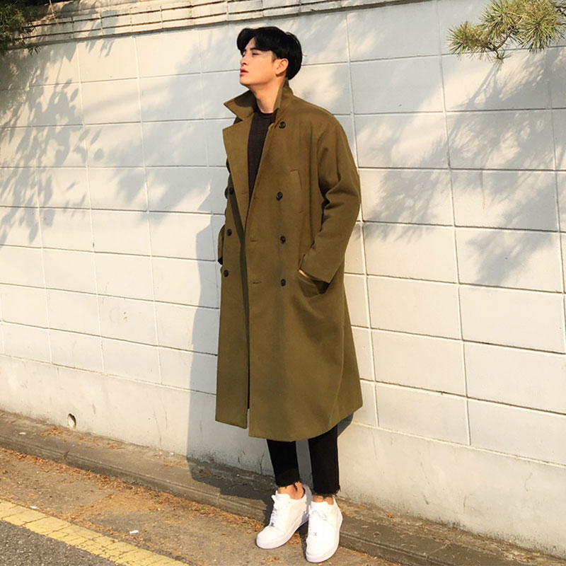 Double FL Long Coat (KHAKI)_O144