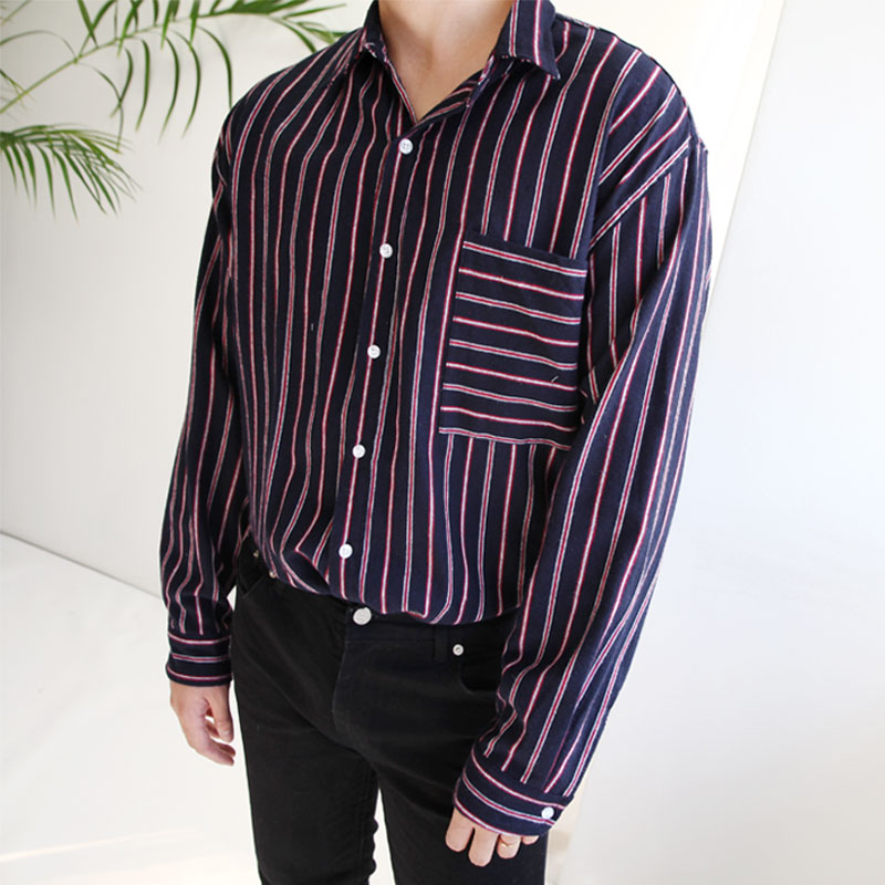 List Pajamas Stripe Shirts_T328 ( 2 color )