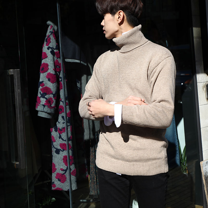 Basic EAST G-Turtle Neck Knit_T394 ( 5 colors )