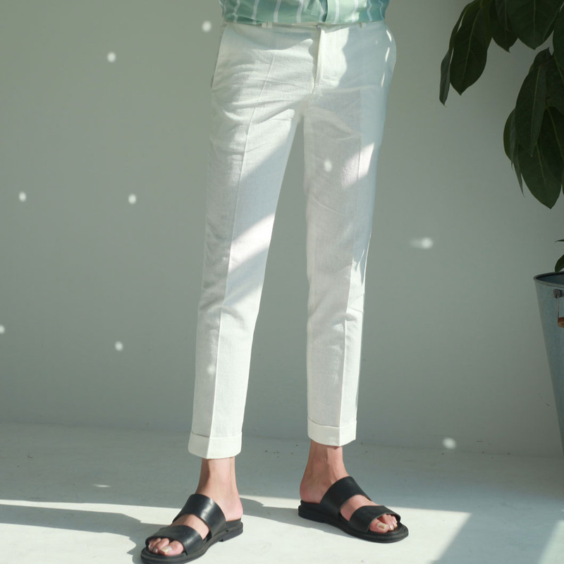 EVR Linen Slim Slacks_B340 ( 5 Colors )