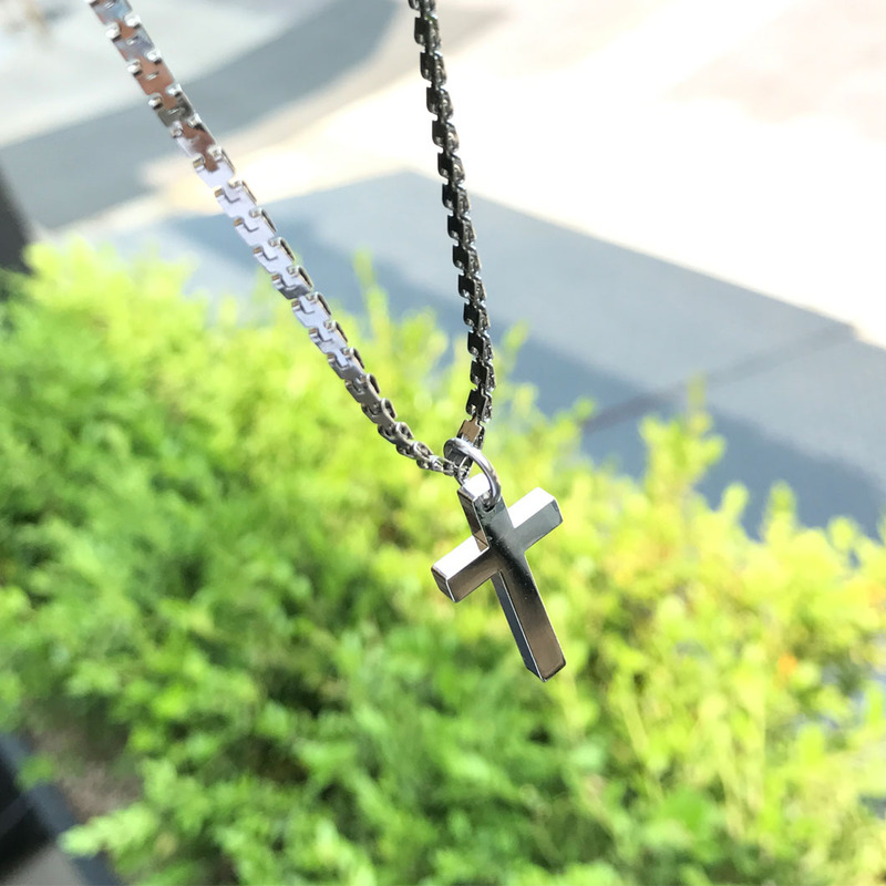 Cross Silver Necklace_A089