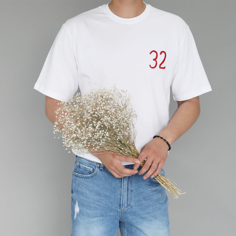 RA 32 Embroidery T-Shirts_T726 ( 2 Colors )