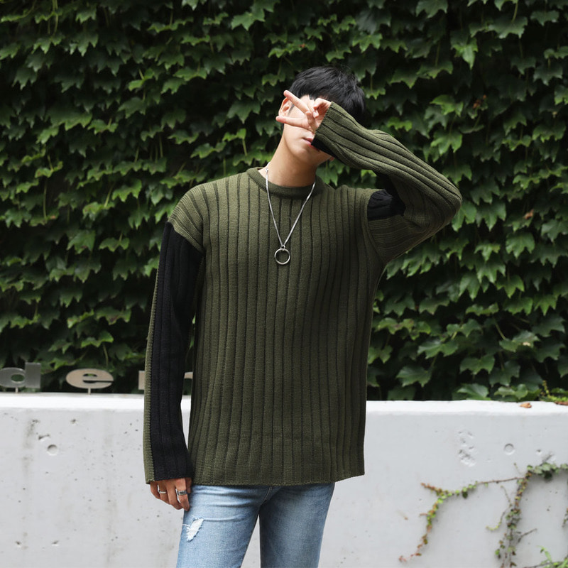 FL Unbal Color Round Knit_T822 ( 2 Colors )