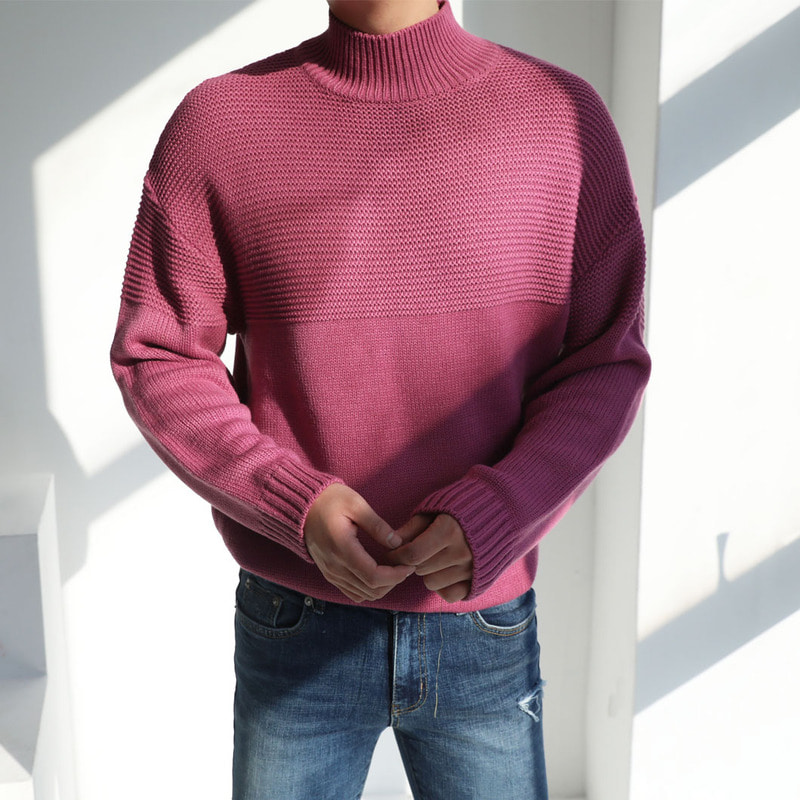 (단독진행) PH Theo Half-Neck Knit_T995 ( 5 Colors )