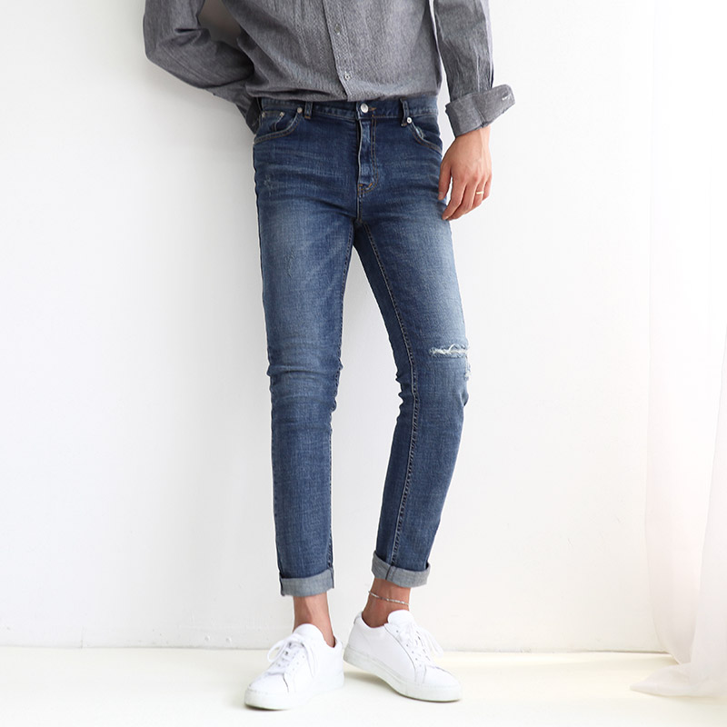 GT 111 Washed Cutting Jeans_B131