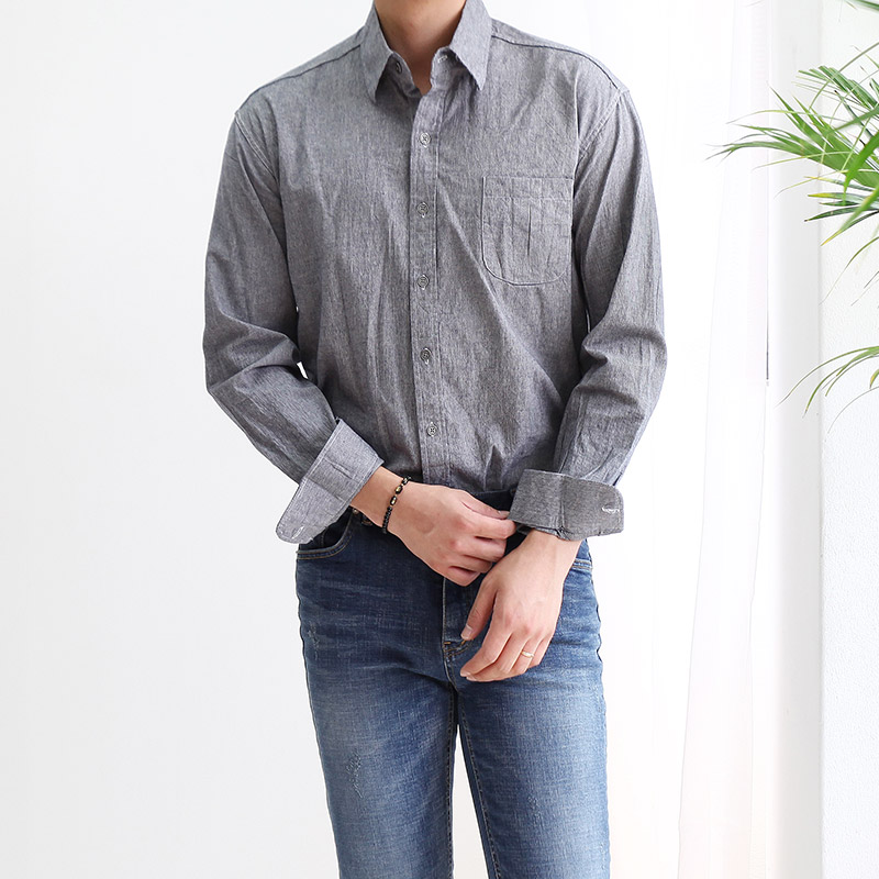 Pin Stripe Pocket Shirts_T245 ( 2 colors )