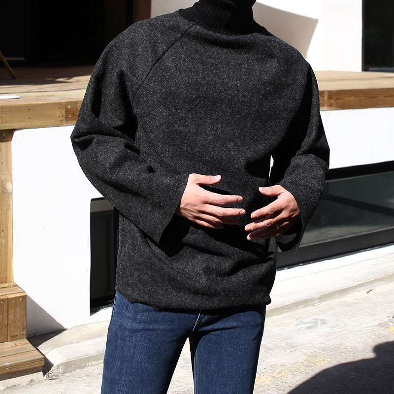 Turtle-Neck FL Raglan Sleeve_T346 ( 3colors )