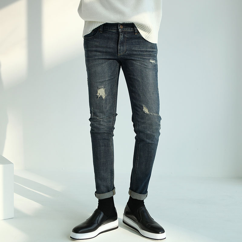 4116 RE Destroyed Slim Denim_B235