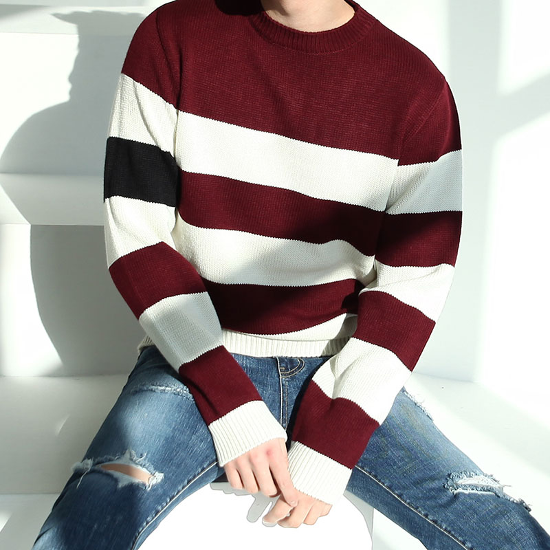 Color MAGN Point Stripe Knit_T458 ( 3 colors )